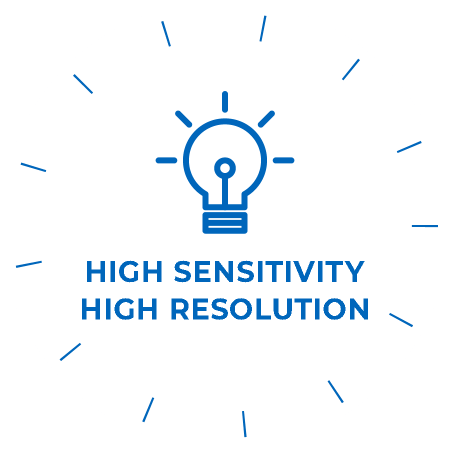 HIGH SENSITIVITY HIGH RESOLUTION